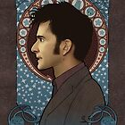10th Doctor art nouveau , Doctor Who , TARDIS by koroa
