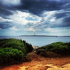 Lighthouse in the distance.  by WhisperedDream