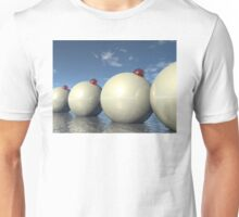 Surreal Spheres Structure Unisex T-Shirt