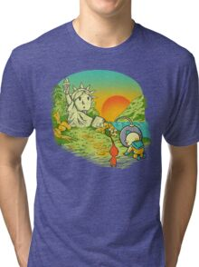 Planet of the pikminis Tri-blend T-Shirt