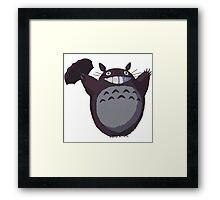 Totoro Funny Framed Print