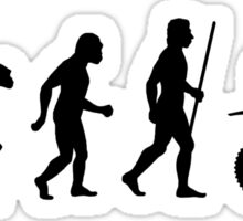 Evolution of Dirt Bike Racing T Shirt Sticker