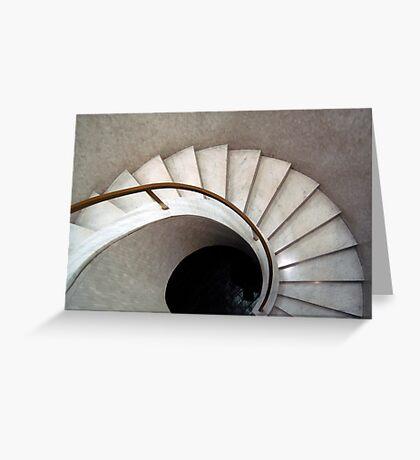 Spiral Stair - Denys Lasdun Greeting Card