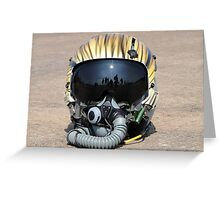 Flying Tiger Head Gear Greeting Card