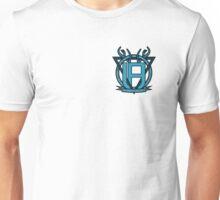 Uncommon Familiarity - Blue Geometric Stag Mini Crest Unisex T-Shirt