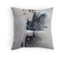 Trumpetist Flamenco Throw Pillow