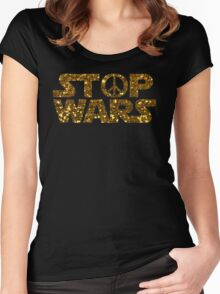 gold stop wars Women's Fitted Scoop T-Shirt
