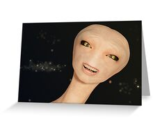 The Goofy Alien Greeting Card