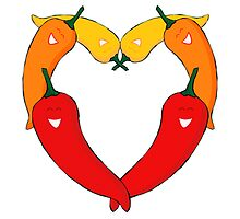 Love chillies by Emma Harckham