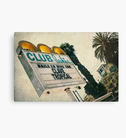 Club Bahia Latin Night Club Retro Sign Canvas Print