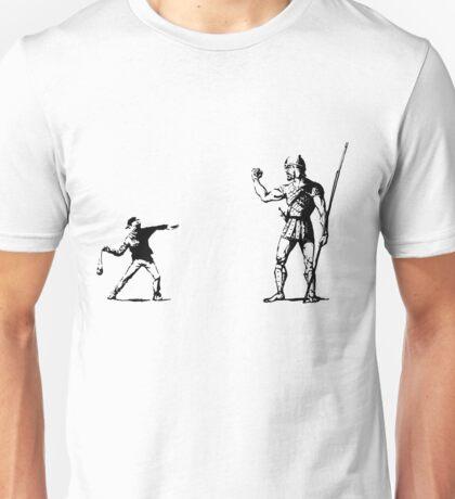 Banksy vs. Goliath Unisex T-Shirt