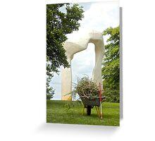 Henry Moore & Wheelbarrow Greeting Card