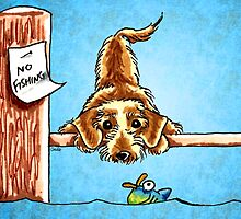 Wirehaired Dachshund Dock Dog by offleashart
