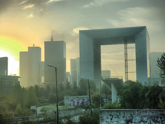 Early Morning in La Defense. by Larry Lingard/Davis