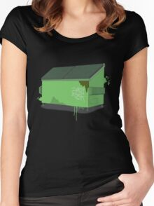 Dumpster splat Women's Fitted Scoop T-Shirt