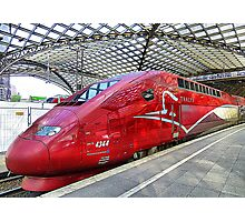 Thalys High Speed train. Photographic Print