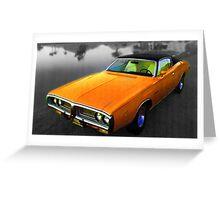 1971 Charger Orange Greeting Card