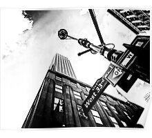 West 33rd St. Empire State Building Poster