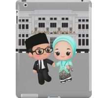 Cute Little Running Couple iPad Case/Skin