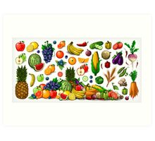 Fruits and Vegetables. Art Print