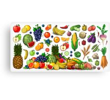Fruits and Vegetables. Metal Print