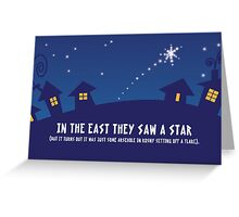 In The East Greeting Card