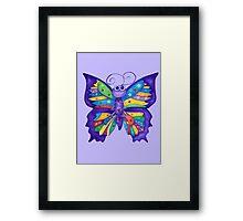 Yoga Butterfly in Namaste (purple background) Framed Print