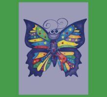 Yoga Butterfly in Namaste (purple background) One Piece - Short Sleeve