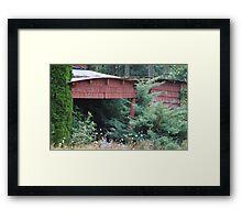 Lost Garage Framed Print