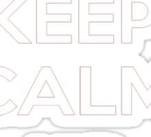 Keep Calm and Kick On Sticker