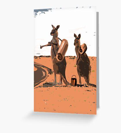 AUSSIE HIKERS Greeting Card