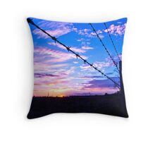 Barbs of Colour Throw Pillow
