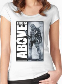 From Above Comic Book 05 Women's Fitted Scoop T-Shirt