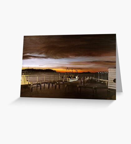 Behind the boatshed Greeting Card