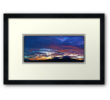 ©HCS The Red Touch Sunset Framed Print