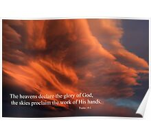 Psalm 19:1 Poster