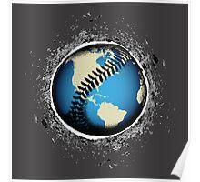 It's A Baseball World Poster