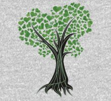 Heart Tree - Tree of Life in green by Yapity