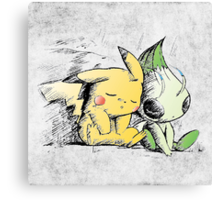 Pokemon 4ever: Pikachu & Celebi Canvas Print