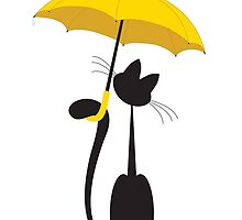 Cat in umbrella by Irinavk