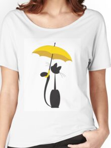 Cat in umbrella Women's Relaxed Fit T-Shirt