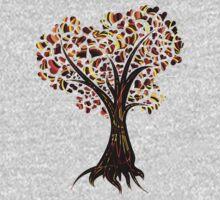 Heart Tree - Fall in swirls One Piece - Long Sleeve