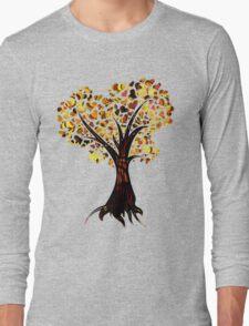 Heart Tree - Fall colours Long Sleeve T-Shirt