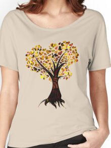Heart Tree - Fall colours Women's Relaxed Fit T-Shirt