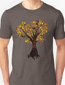 Heart Tree - Fall colours Unisex T-Shirt