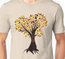 Heart Tree - Fall colours Unisex T-Shirt