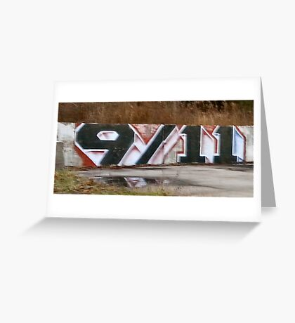 9/11 Truth graffiti art Greeting Card