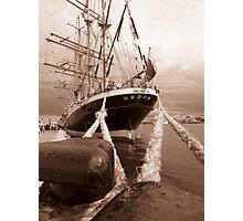 Mooring Bollards Secure Sedov Photographic Print