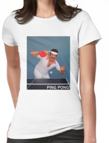 Ron Burgundy Pongs Womens Fitted T-Shirt