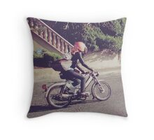 FoxRider Throw Pillow